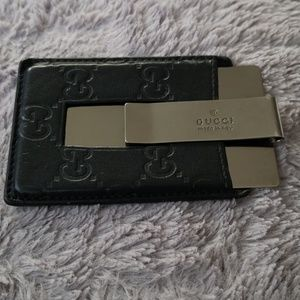 Authentic  Gucci money clip wallet